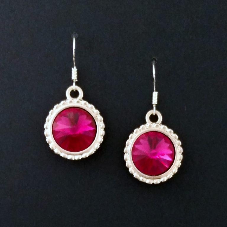 93d7a318d Fuchsia – Swarovski Crystal Earrings – Bespoke Ambition