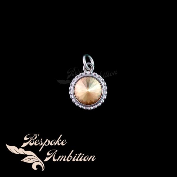 Golden Shadow Swarovski Crystal Pendant